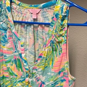 Lilly Pulitzer Tops - Lily Pulitzer Essie Tank Top Size Large Worn Once!